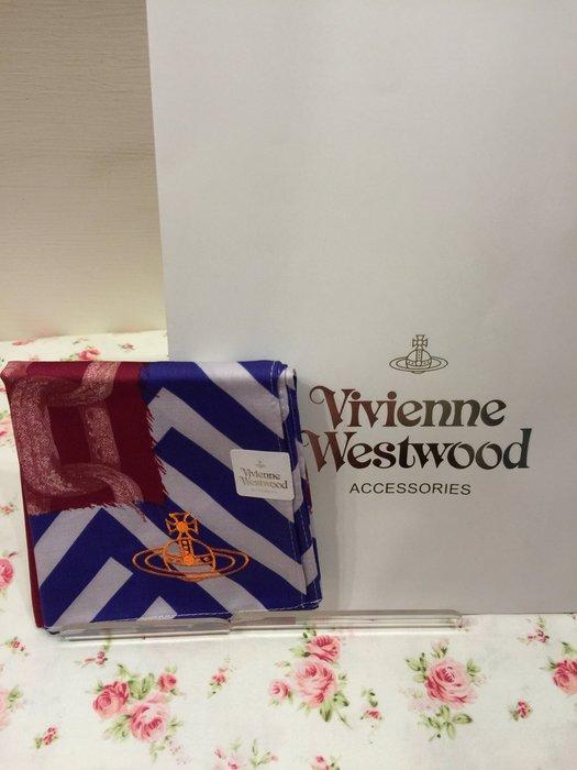 Vivienne Westwood手帕~絲巾~圍巾~100%純棉~ 帶回~ 製~ ~可
