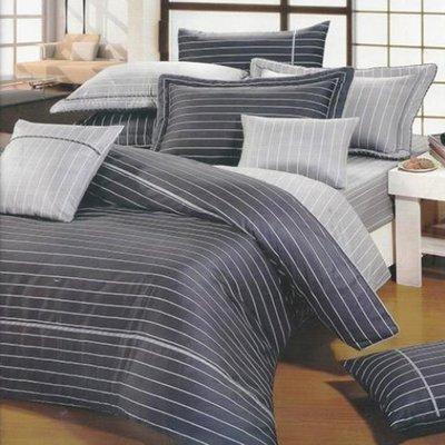 特大雙人床罩組七尺精梳棉-美式簡約-台灣製 Homian 賀眠寢飾