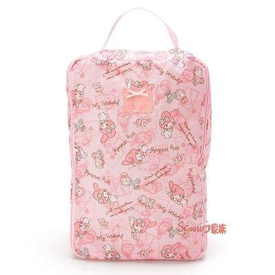 《東京家族》日本三麗鷗 Melody 美樂蒂 手提收納包 旅行包 萬用包 S 號