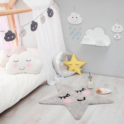 [SECOND LOOK]英國雜貨 Sass & Belle 灰色星星 香甜的夢 小地墊 腳踏墊 浴室墊