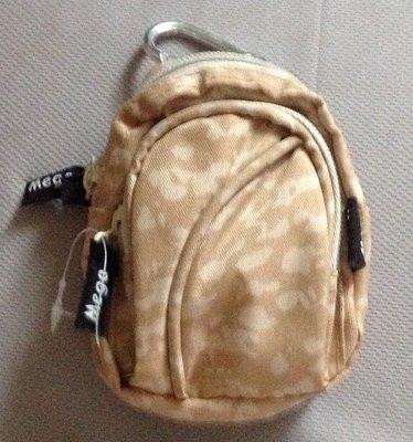 全新背包造型雙層拉鍊零錢包