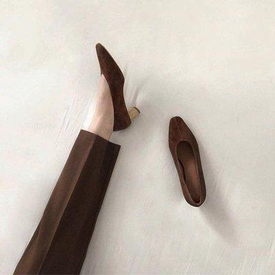 |SMALLS| 真皮訂製 設計師款 柔軟麂皮 復古奶奶鞋 淺口木根鞋(4色) studio doe no216