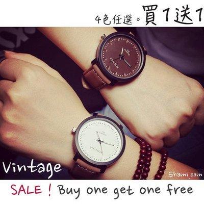 【WA606】韓板霧面 皮革錶帶 手錶 原宿風 潮流 情侶 對錶 男錶 女錶 時尚 簡約 聖誕節 交換 禮物