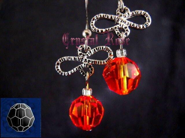 ※水晶玫瑰※ SWAROVSKI 8mm水晶珠 耳勾式針式耳環(DD349)~出清~三對免郵