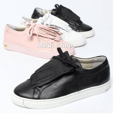 ☆Milan Shop☆網路最低價 正韓Korea 許願款 2Way啾咪流蘇牛皮球鞋/休閒鞋 3色 $1350(免運)