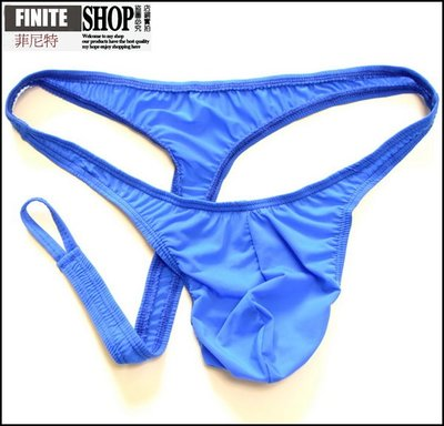 Finite-菲尼特-男士丁字褲T褲男低腰超薄緊身牛奶絲冰絲透明騷套JJ性感內褲