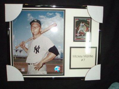 貳拾肆棒球-珍藏品!美國古柏鎮帶回MLB紐約洋基傳奇名人堂球員Mickey Mantle紀念額