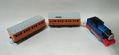 正版 TOMY 鐵道王國 PLARAIL 2手 絕版 湯瑪士 會有音效 蒸氣火車 車廂 多美 電動功能正常 TOMICA