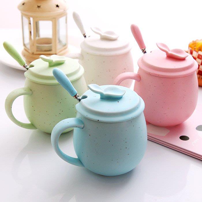 【可可里百貨】創意陶瓷杯可愛早餐杯個性杯子水杯咖啡杯情侶杯馬克杯帶蓋勺