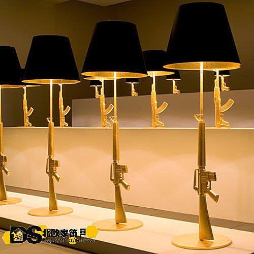 DS北歐家飾§ loft工業風格設計師復刻FLOS Gum Lamp創意造型獵槍狙擊槍落地燈 立燈 ak47 裝飾