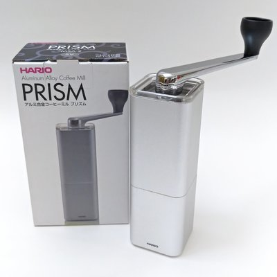 【HARIO】鋁合金手搖陶瓷磨豆機✰MSA-2-SV 銀色 ✰高 鋁合金 重量感 陶瓷刀【 貨 附發票】