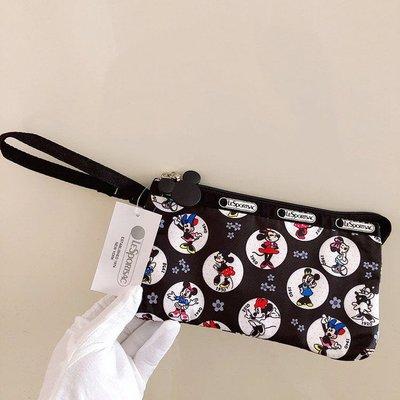 LeSportsac x Disney 米奇米妮 8105 手掛繩多夾層化妝包 零錢包 收納包 降落傘防水 限量 大號