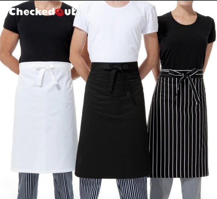 【時尚之都】checkedout廚師圍裙 半身圍裙 工作服圍腰 服務員圍裙 15色