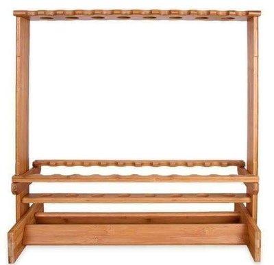 《競工坊》高級24+8格木製置竿架.木製造型竿架,釣竿收納的好幫手,優惠免運費非鋁置竿架.shimano.daiwa
