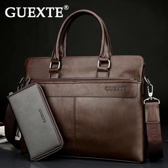 男包商務手提包橫款男士包包 側背包斜挎包休閒 公文包男皮包