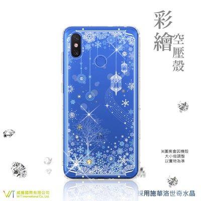 【WT 威騰國際】WT® XiaoMi 小米 Max 3 施華洛世奇水晶 彩繪空壓殼 保護殼 軟殼 -【映雪】