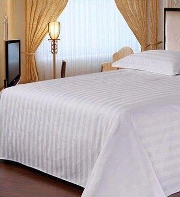 居家家飾設計 飯店 民宿寢具系列-3cm條紋布-雙人床單(隔離單)-尺寸240*280cm-適用5尺*6.2尺床墊