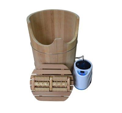 [台灣木匠檜木桶] 檜木蒸足桶 香檜(大)直徑48公分高64公分