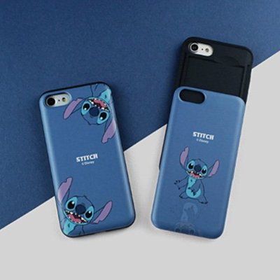 Disney 迪士尼 史迪奇 S2  防摔滑蓋卡夾 手機殼│S7 Edge S8 S9 Plus│z8702