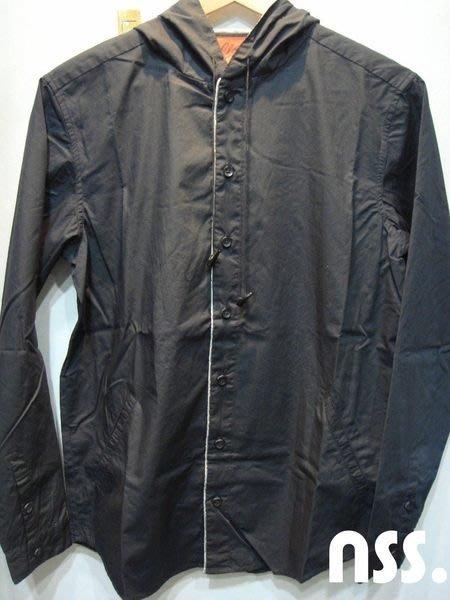 特價「NSS』CLOT DYNASTY CAPUCHON HOODIE SHIRT連帽襯衫 黑 絲綢 牛角 冠希 S M