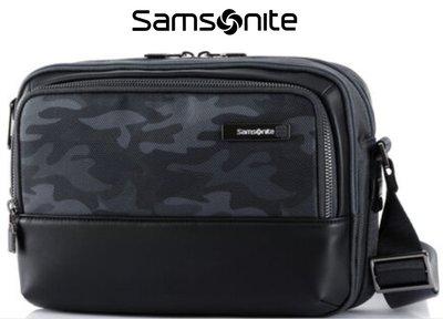 Samsonite 新秀麗 Sefton DV5 限迷彩休閒橫式斜背包 多口袋隔層可放iPad 後方隱藏口袋 休閒側背包