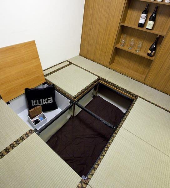 (增加比掀床 床架多的收納空間)增加您的收納空間-DIY 組合專利防潮架高收納木地板
