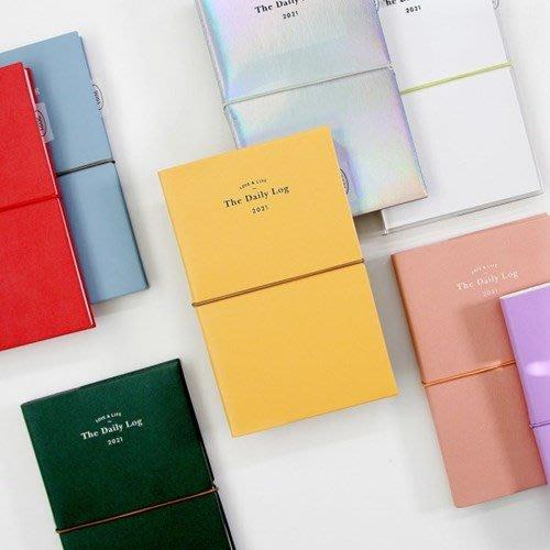 ❅PAVEE❅ 韓國gmz~週計畫 M號 2021限定 Daily Log Diary 皮革綁帶 萬用手帳 行事曆