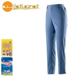 丹大戶外【Wildland】荒野 女款 彈性透氣抗UV九分褲 0A21331-80 藍紫色