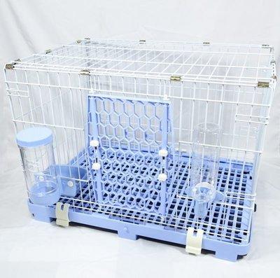【優比寵物】610-M歐式簡約M款全配寵物籠/寵物屋/貓籠/狗籠/兔籠(附自動餵食器/飲水器) -優惠價-台灣製造-