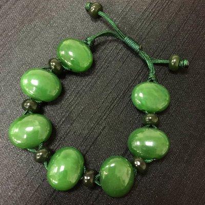 加拿大碧玉橄欖珠手鍊 (1倉)