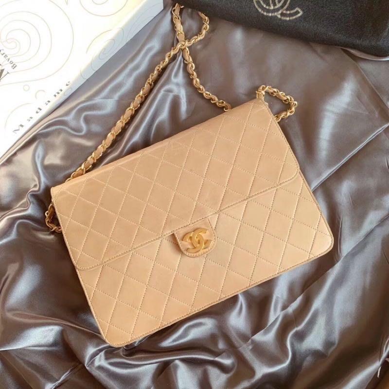 售出💫日本中古二手💕💕香奈兒vintage Chanel中古cf鏈條包(夢露🇰🇷🇯🇵現貨實拍)