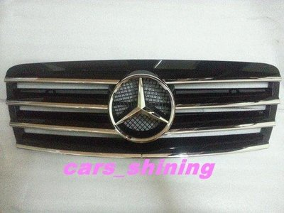 cars_shining 全新 賓士 W210 水箱罩 1995-1999 E200 240 280 300 黑色含大星