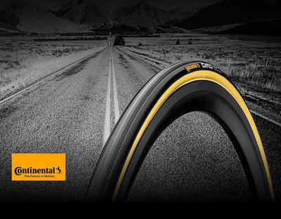 ~騎車趣~ Continental GIRO 公路車管胎 膚色邊 700x22C Tubular