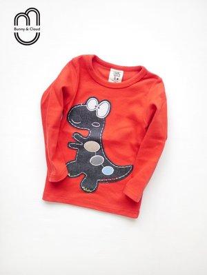 紅色可愛恐龍韓國棉長袖上衣 保暖 Bunny  Cloud