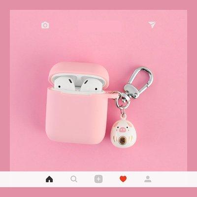 福字小豬 airpods2代 保護套 可愛 airpods 蘋果 無線耳機矽膠防丟盒子殼 軟殼全包 防摔抗震 保護套