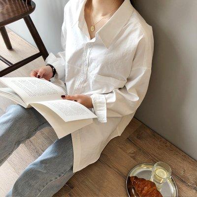 想穿舒適的必買 / 男友風情侶裝襯衫上衣 寬鬆仿麂皮絨皺感長袖襯衫 艾爾莎【TAE8739】