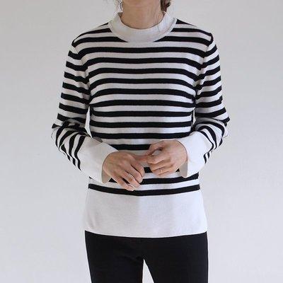 Girlmonster韓國 條紋針織衫 (黑/深藍/駝色) 【A0167】