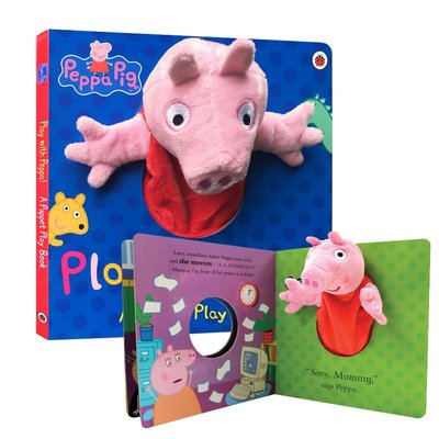 粉紅豬小妹 大型手偶紙板書 英文 Peppa Pig Play with Peppa Hand Puppet Book手