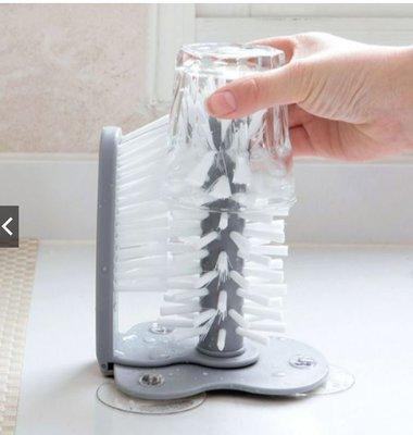 創意懶人洗杯神器懒吸壁式玻璃杯 旋轉水杯刷 茶杯刷
