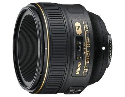 Nikon 58mm F1.4G AF-S N 奈米塗層 大光圈 f/1.4G【公司貨】.人像鏡頭  f1.4 G