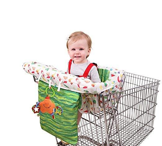 ~❤美國寶寶的衣櫥❤~(獨家現貨)美國帶回Nuby Eric Carle 兒童 寶寶 購物車 餐椅 推車保潔墊 餐椅套