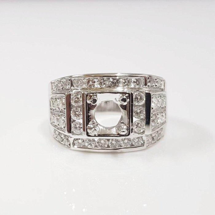全新品 鑽石空台 適用1~1.3克拉 有色寶石皆可使用 585K金鑽石材質 配鑽約1.3ct 大眾當舖 編號5990