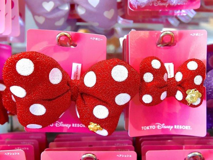 Ariel's Wish-日本東京迪士尼立體蝴蝶結紅色米妮minnie紫色黛西髮圈髮飾髮箍髮夾髮帶多用式-兩款現貨(小)