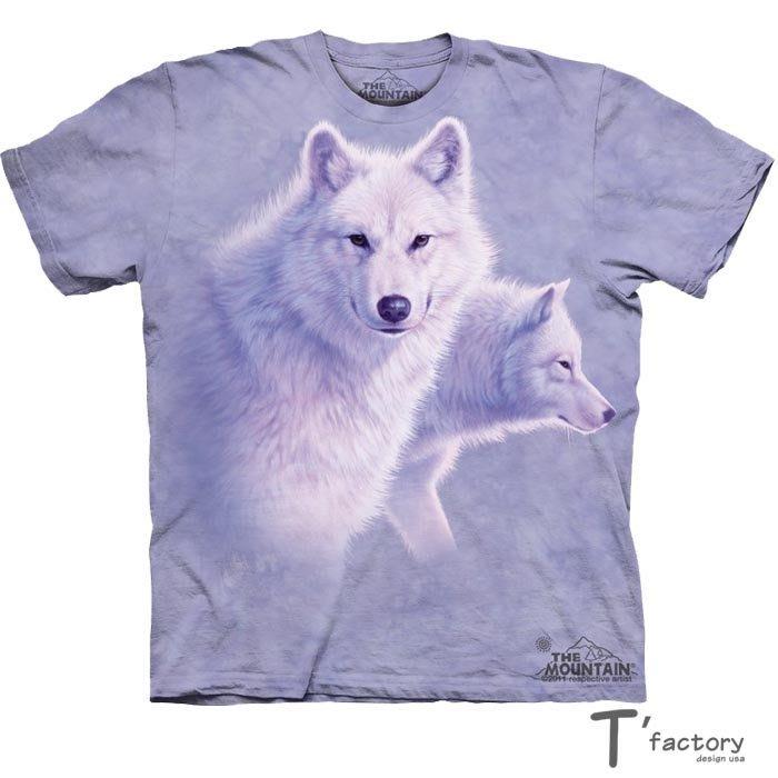 【線上體育】The Mountain 短袖T恤 優美的白狼 S號