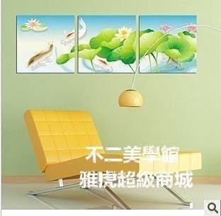 【格倫雅】^无框画荷花联客厅装饰画卧室挂画壁画墙画版画年年有余荷花36666[g-l-y35