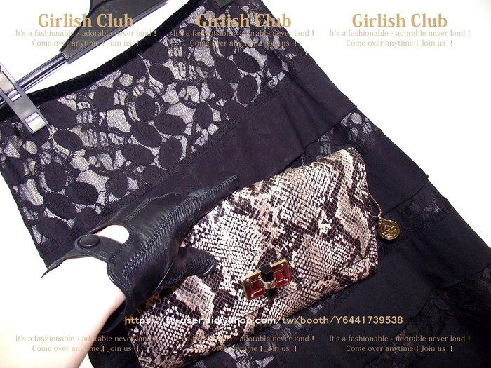 【Girlish Club】專櫃夏玉玲黑色蕾絲長裙m(m761)韓國sz mia iroo zara貝爾尼尼二三一元起標