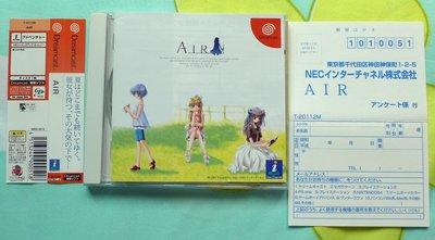 日本版遊戲片-DC-AIR-美少女遊戲-Dreamcast-遊戲光碟-附側標.回函卡-NEC-SEGA