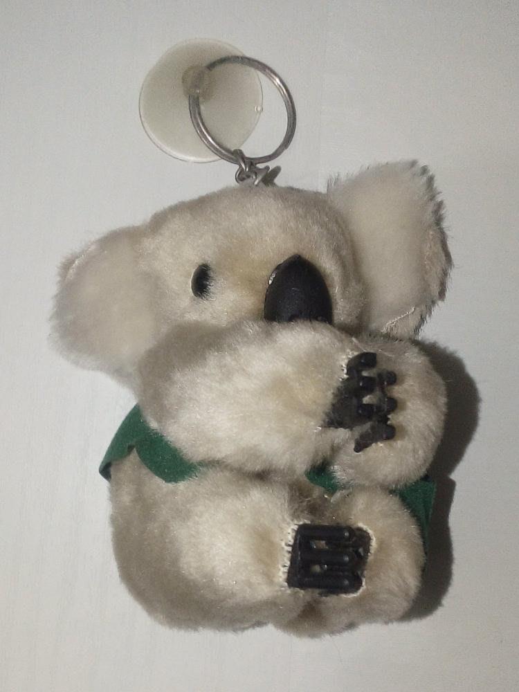 【0768】娃娃 吊飾 無尾熊 二手