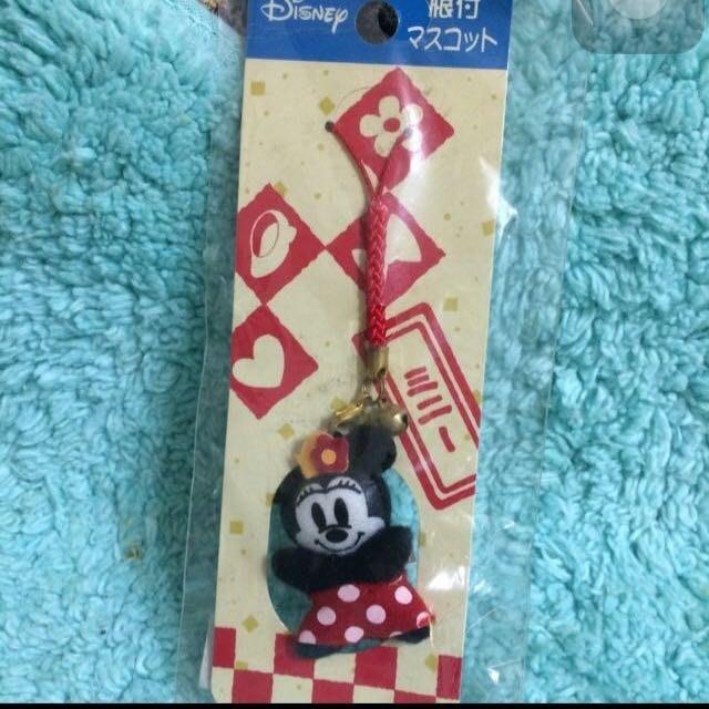 日本Disney迪士尼 米妮吊飾 可掛包包