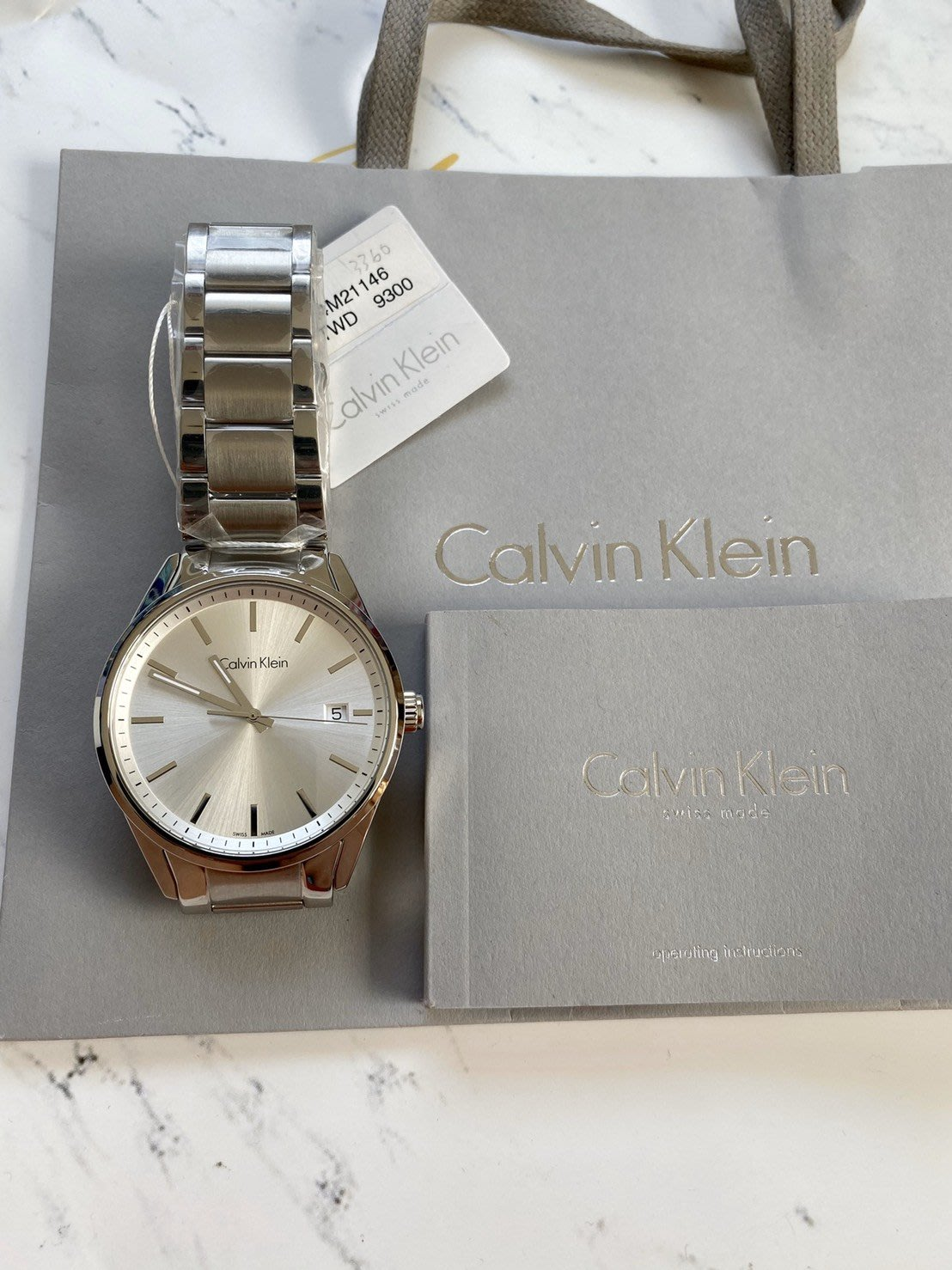 Calvin Klein Mens Formality K4M21146 凱文克萊大錶徑鋼帶男錶 三針腕錶銀白43mm
